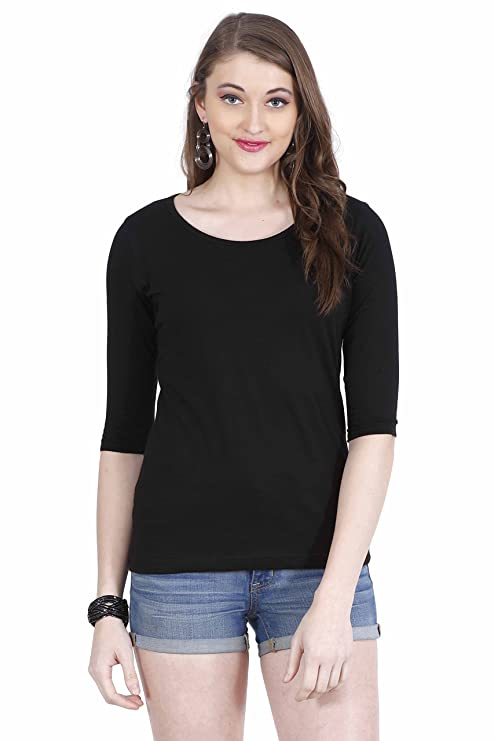 Fashion Fakir Women's 3/4th Sleeve Casual Cotton Top