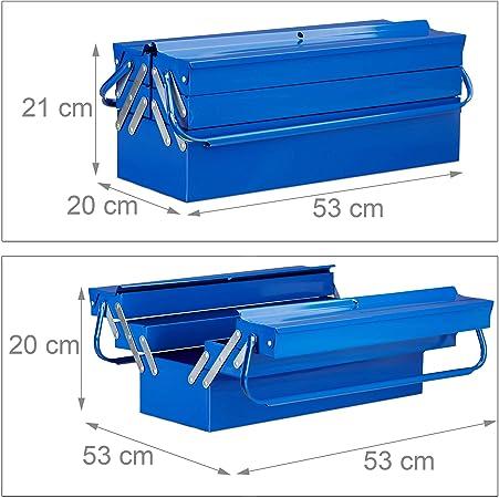 """Heavy Duty 21/"""" 530 mm Métal Cantilever 5 Plateau de boîte à outils de stockage boîte à outils bleu nouveau"""