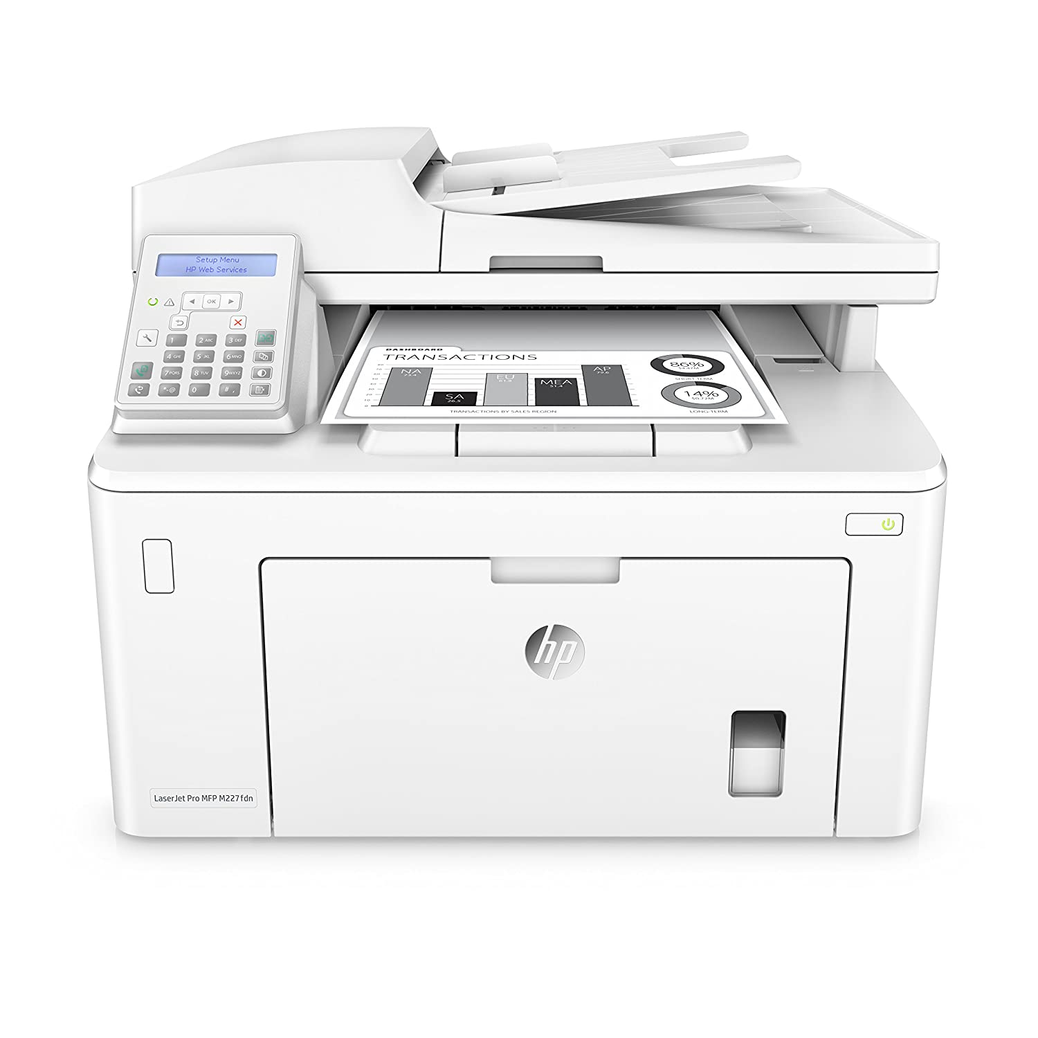 HP LaserJet Pro M227fdn All in One Laser Printer with Print Security,  Amazon Dash Replenishment ready (G3Q79A)  Replaces HP M225dn Laser Printer