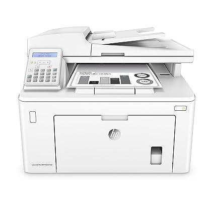 HP Laserjet Pro MFP M227fdn – Impresora láser multifunción (LAN, fax, copiar, escanear, Imprimir en Blanco y Negro, 28 ppm) Color Blanco