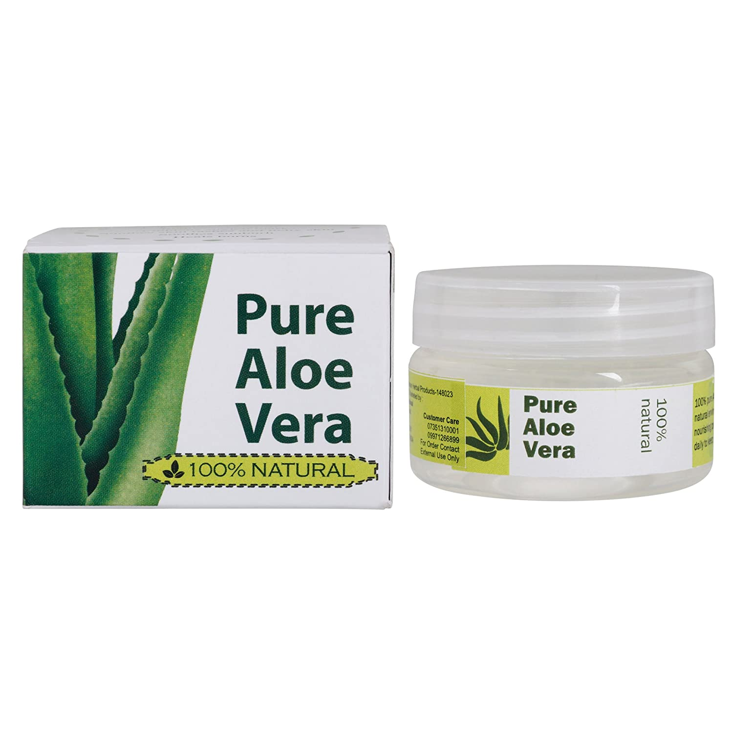The Gauri International 100% Natural Aloe Vera Gel travel product recommended by Ankit Sitoke on Pretty Progressive.