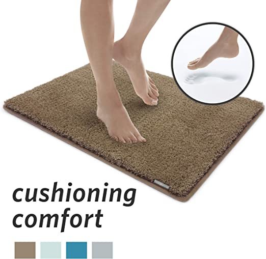 Amazon Com Microdry Soft Cozy Memory Foam Bath Mat With Griptex