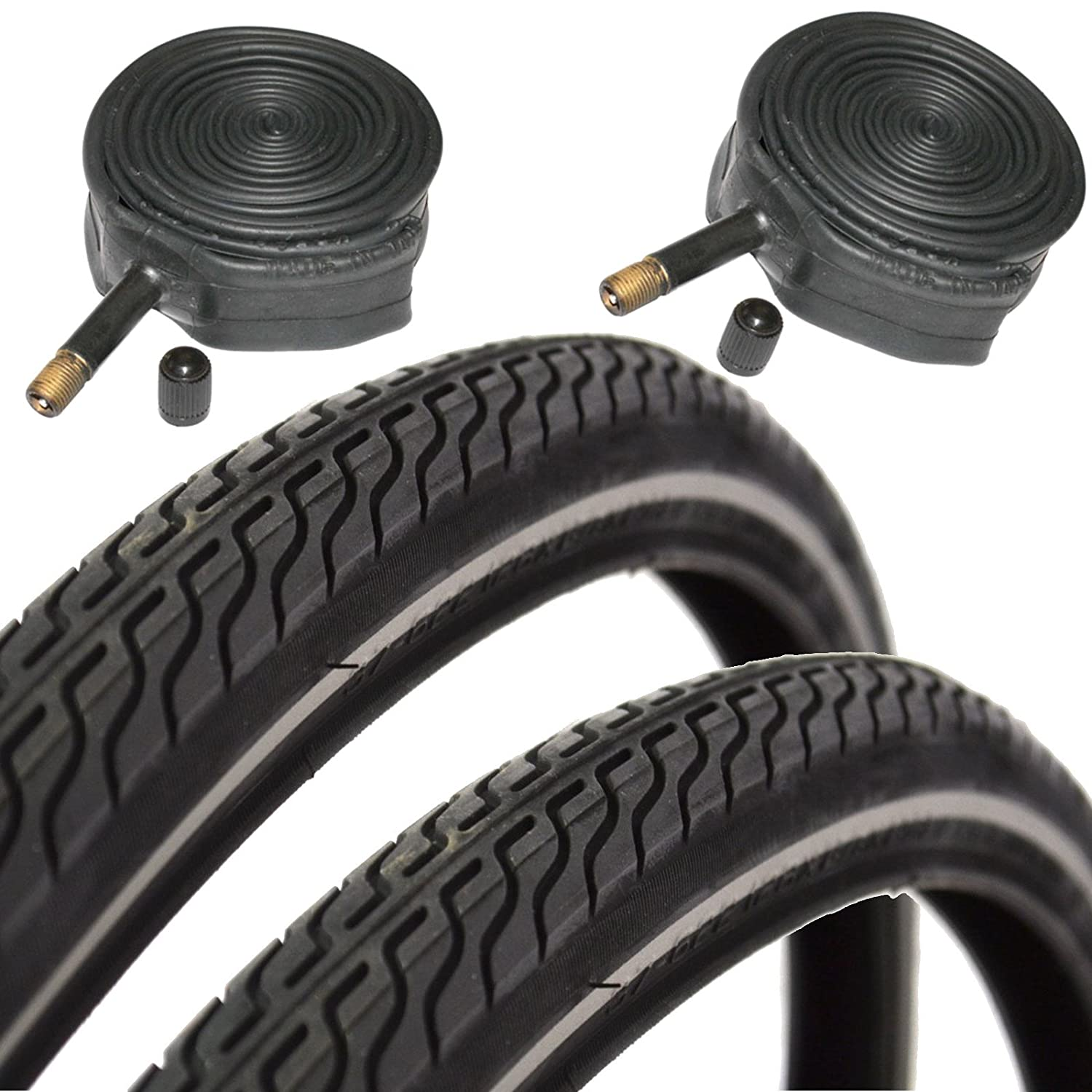 CST Raleigh T1262 Global Tour 700 x 35c Hybrid Bike Tyres with Schrader Tubes (Pair)