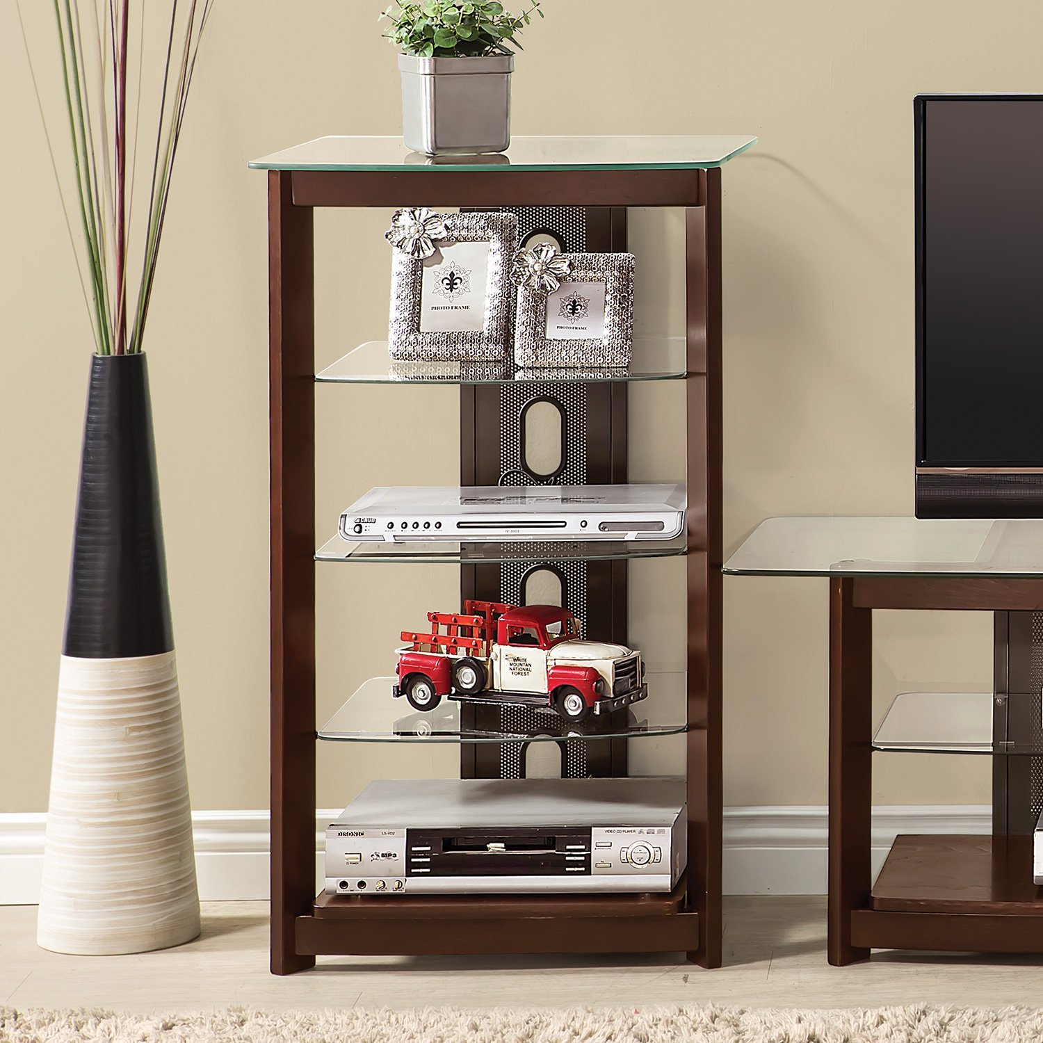 Coaster Home Furnishings 4-Tier Media Tower Chestnut by Coaster Home Furnishings