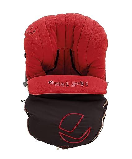 Jana - Saco universal jané moon footmuff para silla de auto grupo 0 rojo/negro