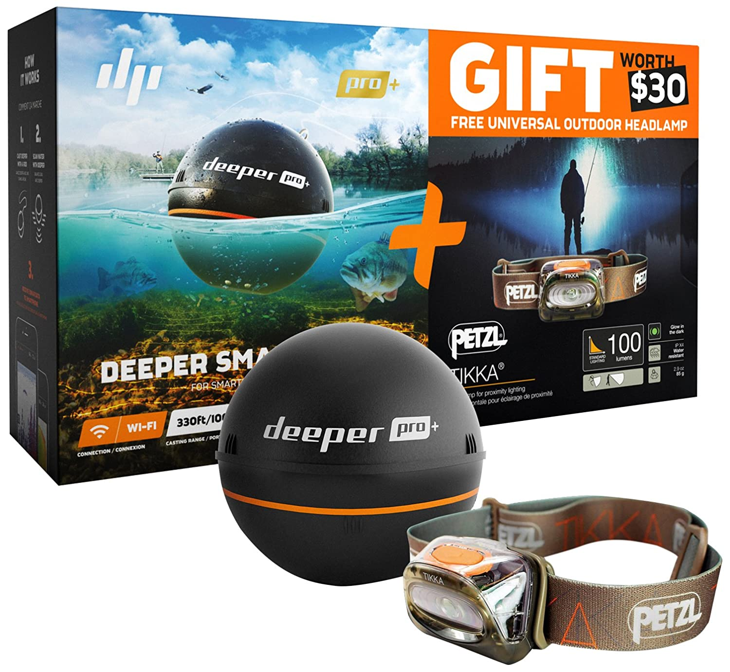 Deeper Portable Wireless Wi-Fi Fish Finder