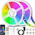 Bonve Pet 20M Tiras LED RGB 5050, Bluetooth Musical Tiras LED 600 LEDs Tiras de Luces LED Iluminación, Control de APP y Remoto Control de 40 Teclas, 16 Millones de Colores, Modo de Horario