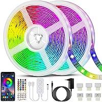Bonve Pet 20M Tiras LED RGB 5050, Bluetooth Musical Tiras LED 600 LEDs Tiras de Luces LED Iluminación, Control de APP y…