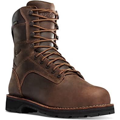 "Danner Men's Workman 8"" Alloy Toe Boot & Knit Cap Bundle"