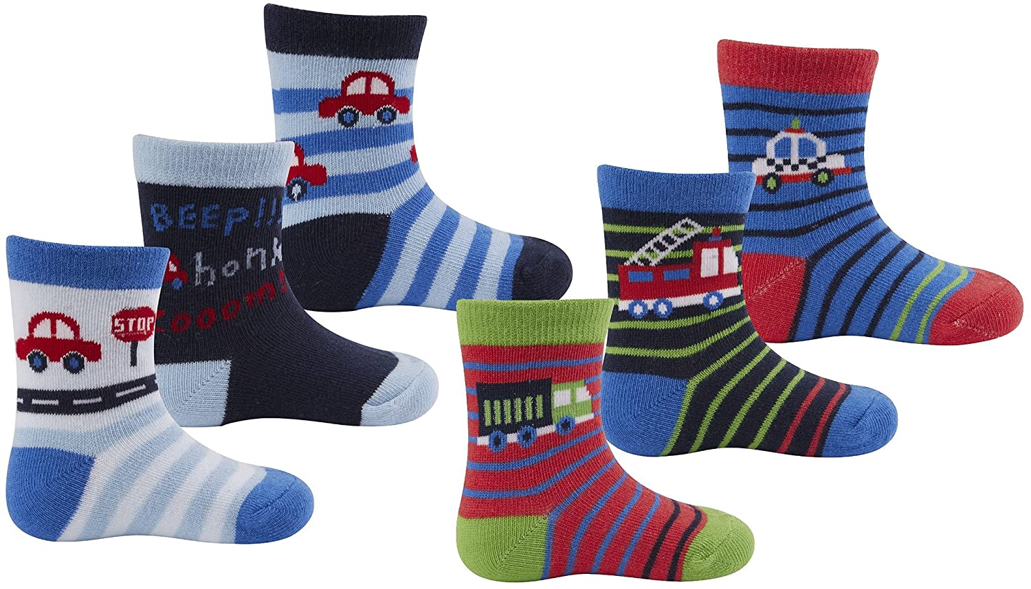 Cottonique Baby Boys Character Cotton Rich Socks