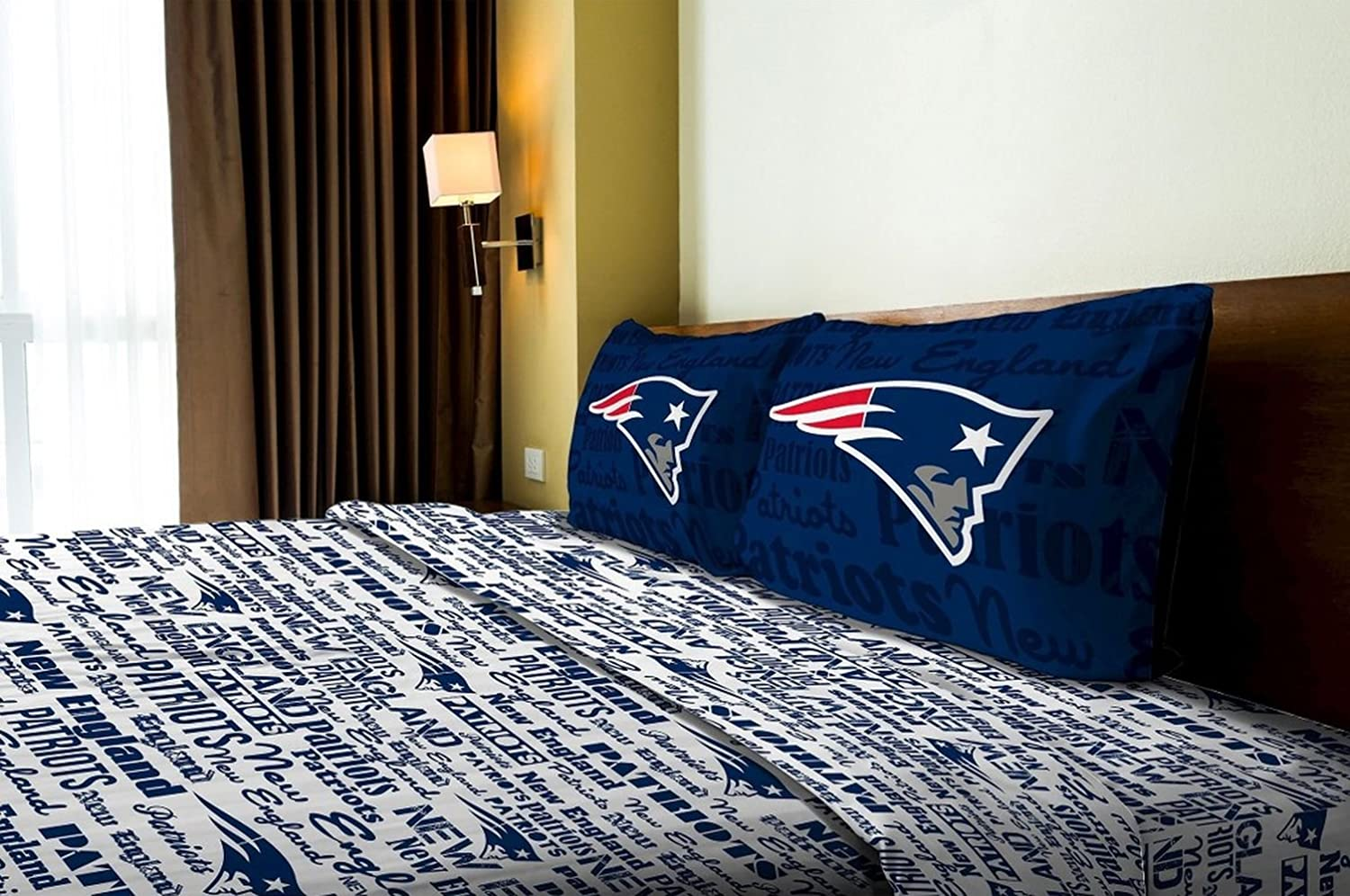 Bon Amazon.com: New England Patriots Full Comforter U0026 Sheet Set (5 Piece  Bedding): Home U0026 Kitchen