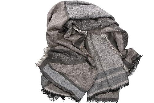 Sciarpa donna ROMEO GIGLI grigio sciarpone con frange 100% acrilico