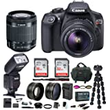 Canon EOS Rebel T6 DSLR Camera w/ EF-S 18-55mm IS II Lens & Zoom TTL Bounce & Swivel Flash, 48GB, Filter Kit, Wide Angle and Telephoto Lenses & Bundle