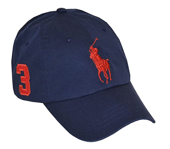7181afa0c8a Ralph Lauren Polo Men Big Pony Logo Hat Cap - Blue -  Amazon.co.uk ...