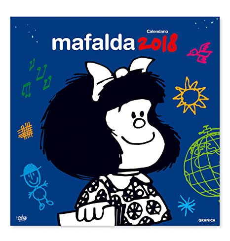 Granica Mafalda Calendario Parete 2018 Colore Blu Vvaa Amazon