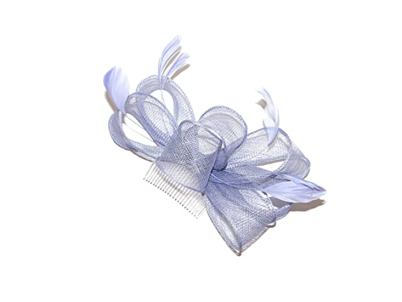1aede61516a55 BEAUTIFUL CORNFLOWER BLUE HAIR FASCINATOR ON CLEAR COMB - WEDDINGS RACES   Amazon.co.uk  Beauty