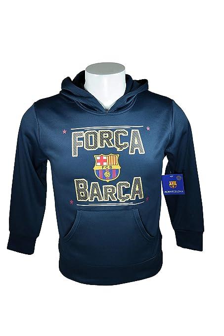 FC Barcelona Front Fleece Jacket Sweatshirt Official Soccer Youth Hoodie YM  005 97e6fef6e