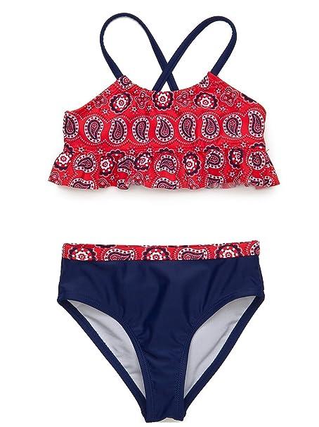 f8508abf820b Amazon.com  J. Khaki Toddler Girls  Two-Piece Bandana Print Bikini ...
