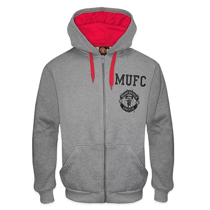 Manchester United FC - Sudadera oficial con capucha - Para hombre - Con el escudo del