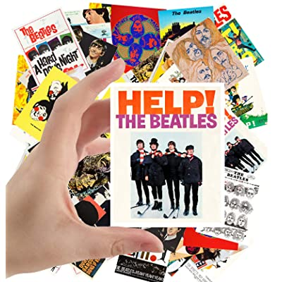 "Large Stickers (24 pcs 2.5""x3.5"") The Beatles Vintage Posters Movies Covers Comic: Toys & Games"