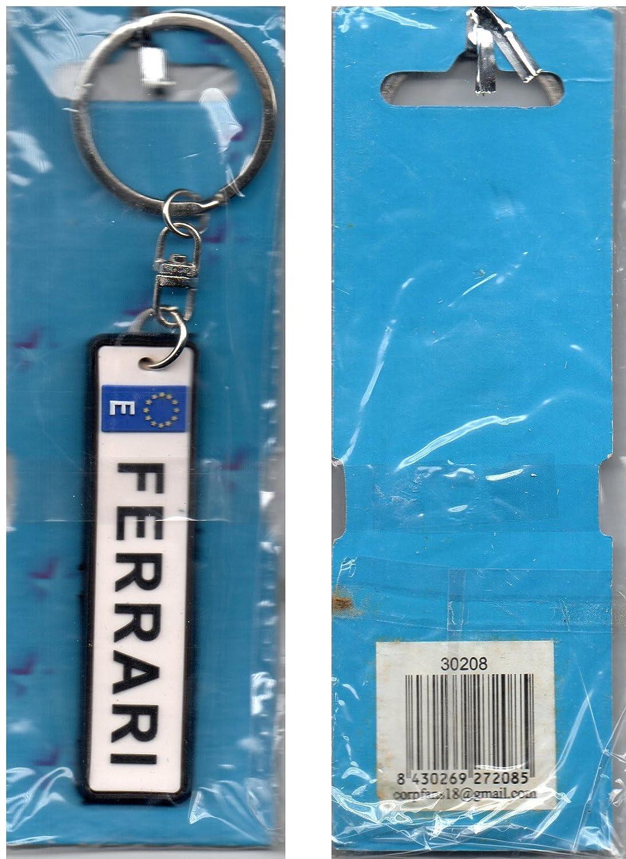 Amazon.com: Goma Llavero Europa bandera Ferrari color blanco ...