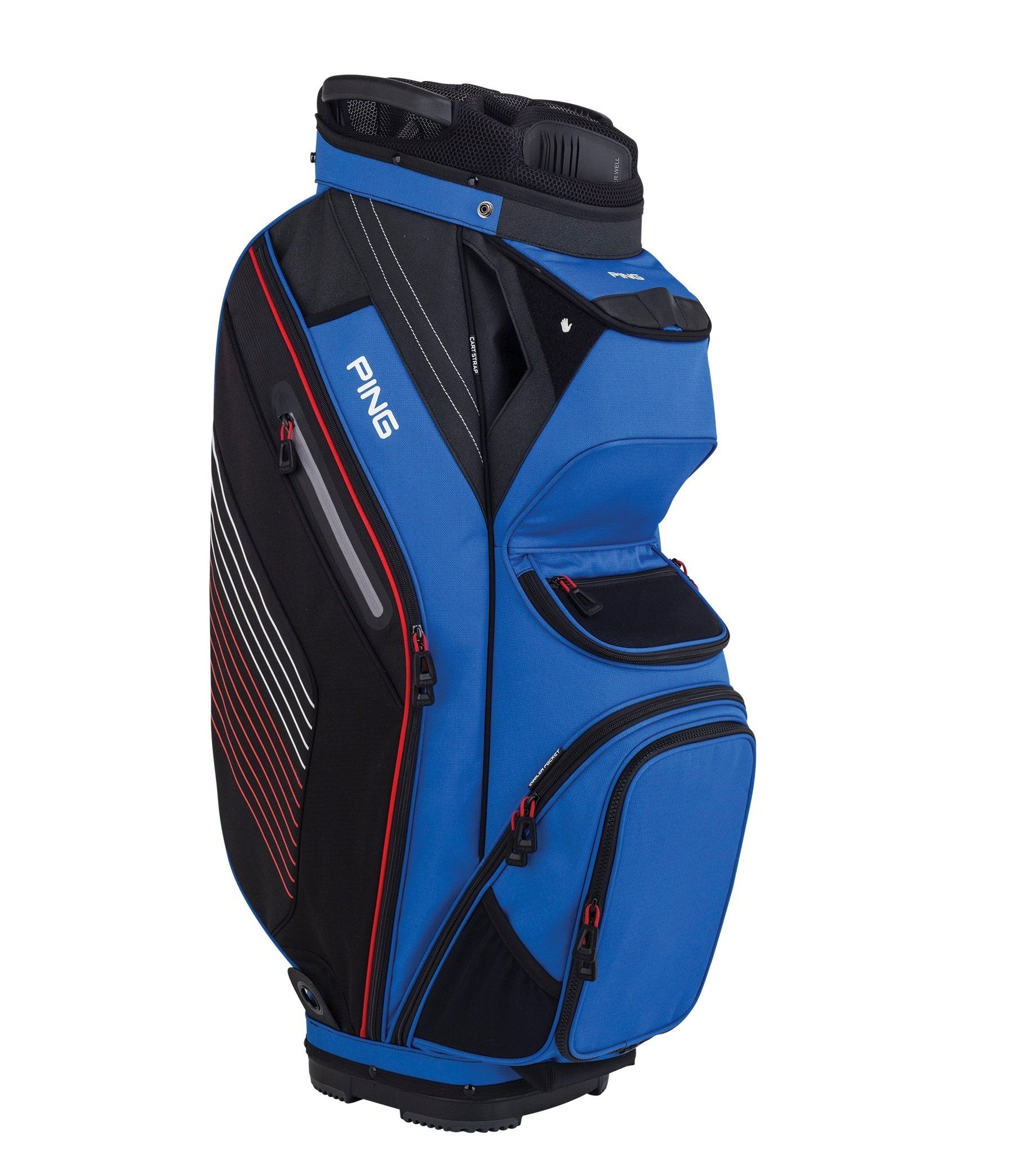 PING 2018 PIONEER 164 CART GOLF BAG 12 BLUE/BLACK/RED