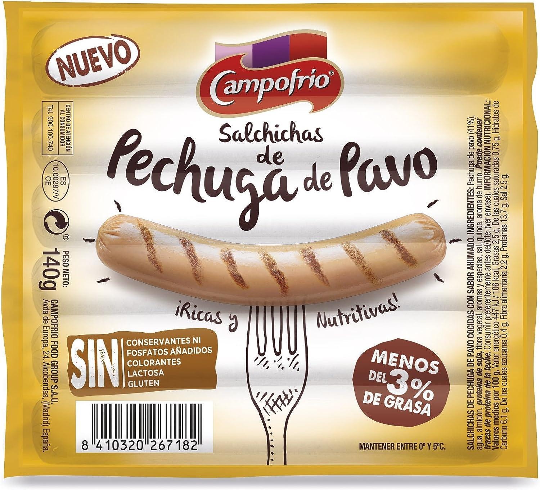 Campofrio Salchichas Pechuga de Pavo, 140g: Amazon.es ...