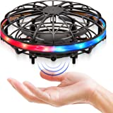 Force1 Scoot LED Hand Operated Drone for Kids or Adults - Hands Free Motion Sensor Mini Drone, Easy Indoor Small UFO Toy Flyi