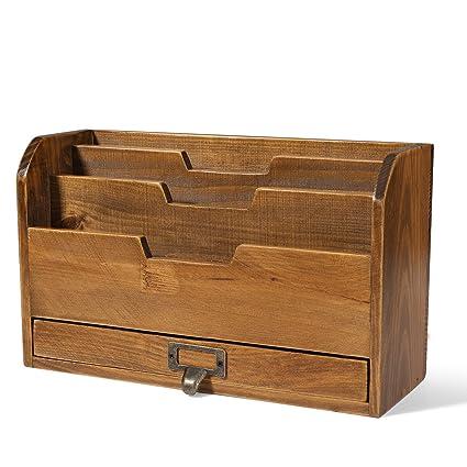 Flexzion Nivel 3 Escritorio de madera Organizador - Los ...