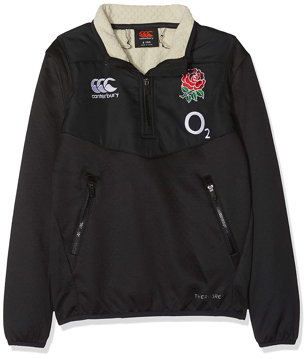 England Rugby Vaposhield Full Zip Hoodie Anthracite Junior Kids Canterbury Clothes, Shoes & Accessories Boys' Clothing (2-16 Years)