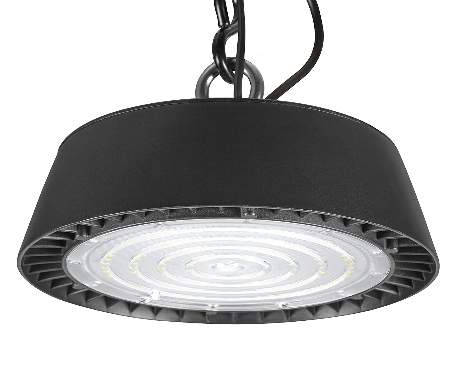 UL Listed Inc. Dimmable Sleek Super Bright Commercial Bay Lighting with Fresnel Lens Hyperikon UFO LED High Bay Light 200W 28000 Lumens Waterproof IP65 Rating 5700k