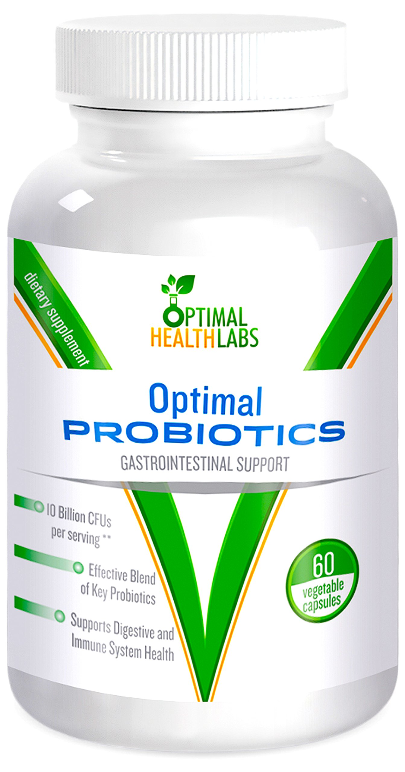 Optimal Probiotics for Women Men and Kids Health - Effective blend of key probiotics to support your immune system and digestive health - 60 Natural Vegetarian Capsules