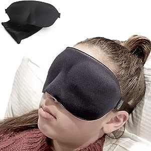 3D Sleep Eye Mask | 100% Premium Memory Foam Sleeping Mask, Blindfold, Sleeping Aid For A Deeper, Relaxing & More Restful Nights Sleep, Blindfold, Eyemask For Men and Woman
