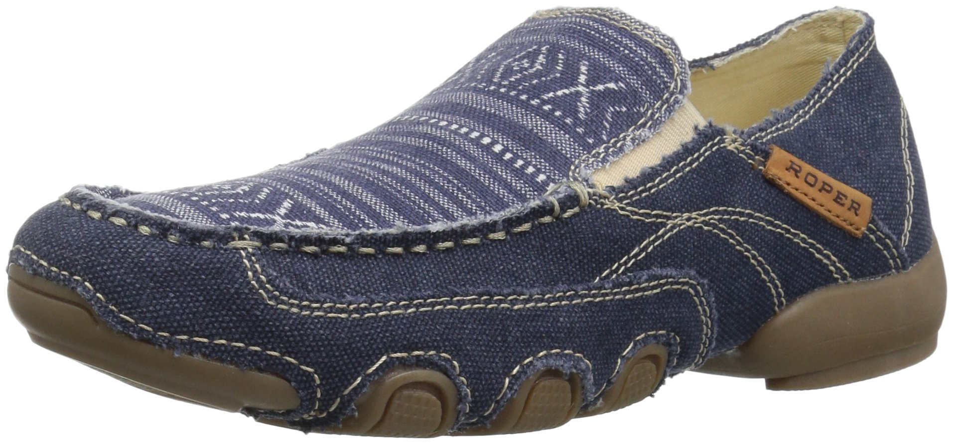 Roper Women's Daisy Driving Style Loafer, Blue, 10.5 Medium US