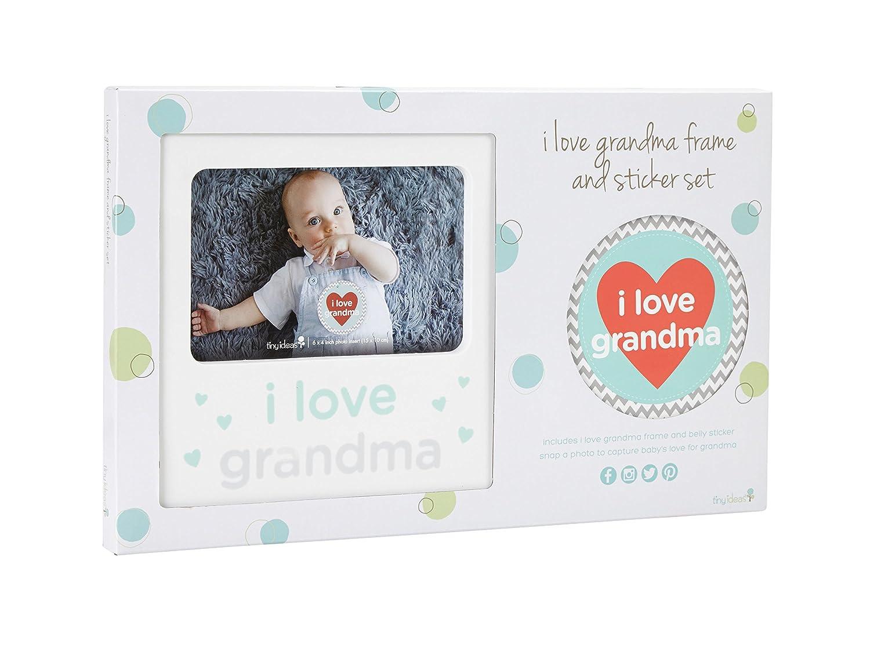 Amazon.com : Tiny Ideas I Love Grandma Baby Belly Sticker and ...