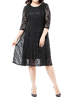 09abef9ce461 Amazon.com: Sealed with a Kiss Designs Plus Size Dress - Kaye Lace ...
