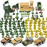 TOY Life Plastic Army Men Toys Plus Die Cast Military Toy Army Guys Vehicles Play Set   95pc Piece Army Toys Gift Set for Boy