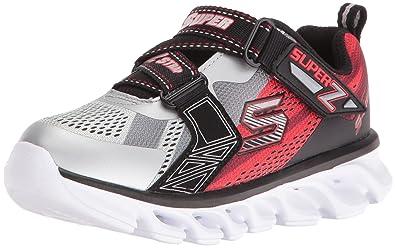 734e10c0cc567 Amazon.com   Skechers Kids Boys Hypno Flash Z Strap Light Up Sneaker ...