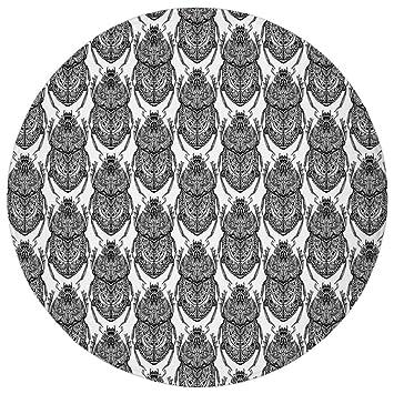 Alfombra redonda de felpa, egipcia, hecha a mano, con diseño de ...