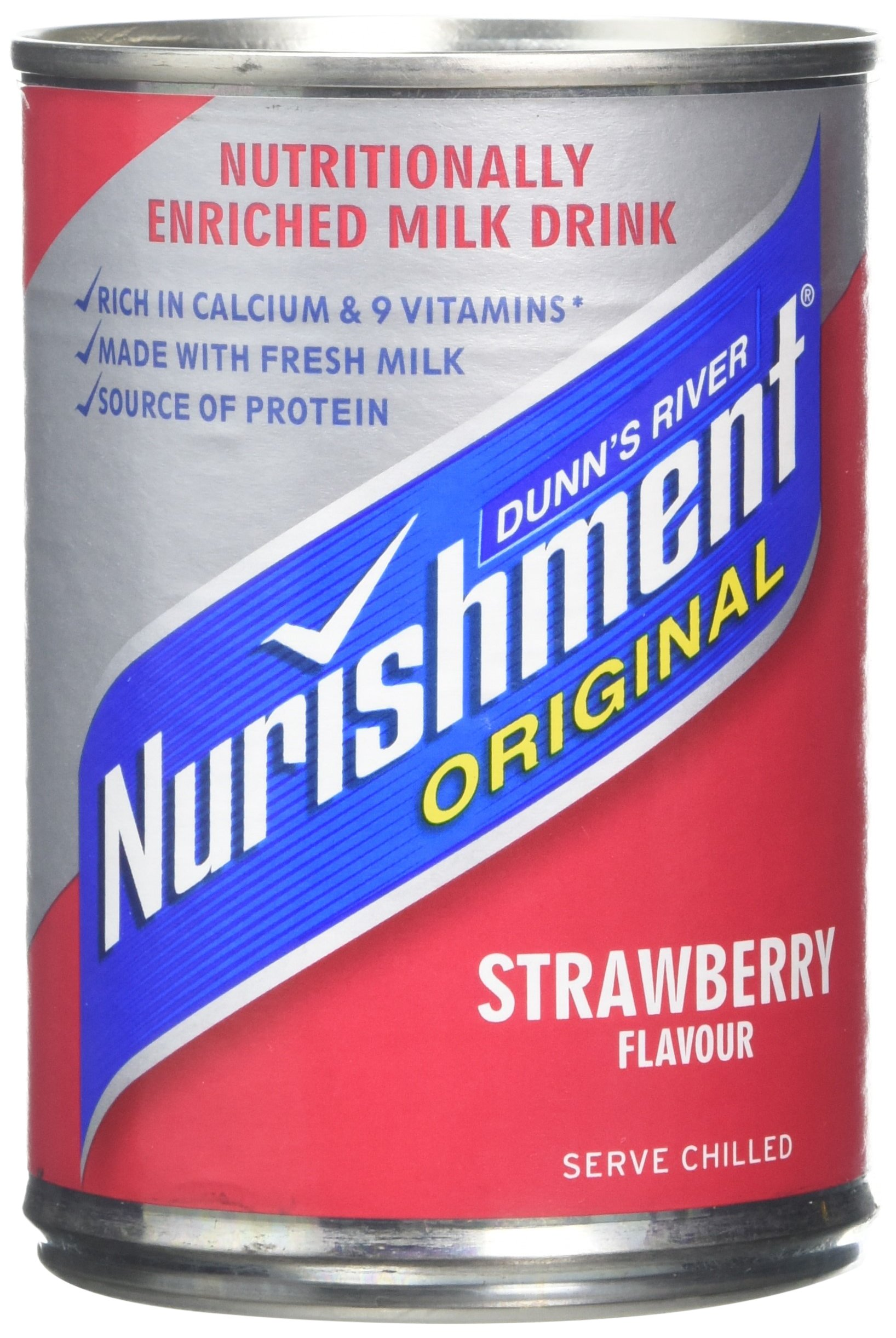 Dunns River Nurishment Original Strawberry 14oz (Pack of 12) by Nurishment