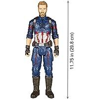 Boneco Capitão América e Acessório Vingadores Guerra Infinita Hasbro Vermelho/Branco/Azul