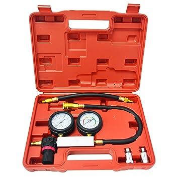 Probador de pérdida de presión, probador de motor de gasolina, diesel, presión del cilindro: Amazon.es: Coche y moto