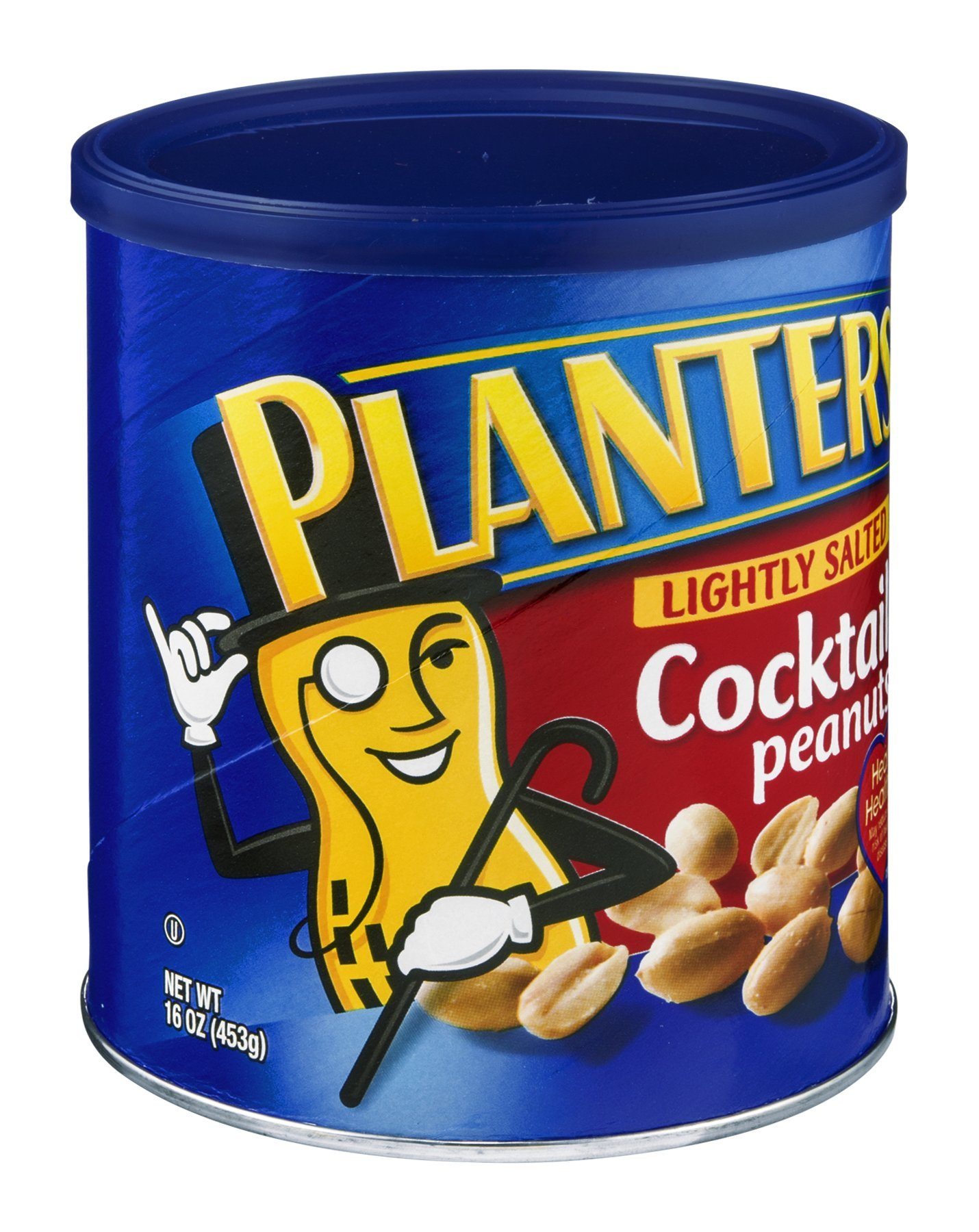 Planters Lightly Salted Cocktail Peanuts 16 OZ (Pack of 24)