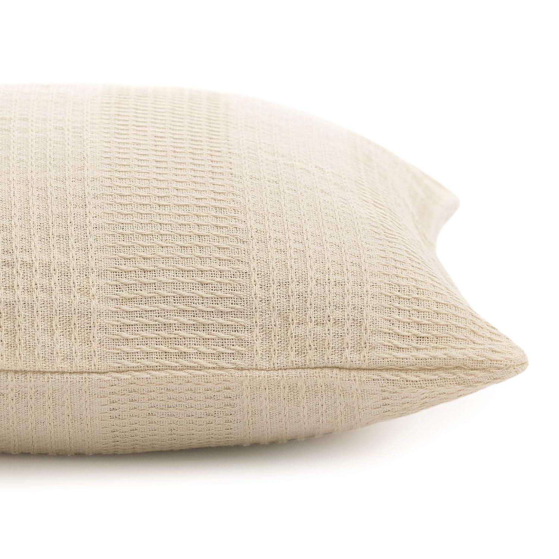 GOTS Certified Whisper Organics 100/% Organic Cotton Throw Pillow Natural, 18x18