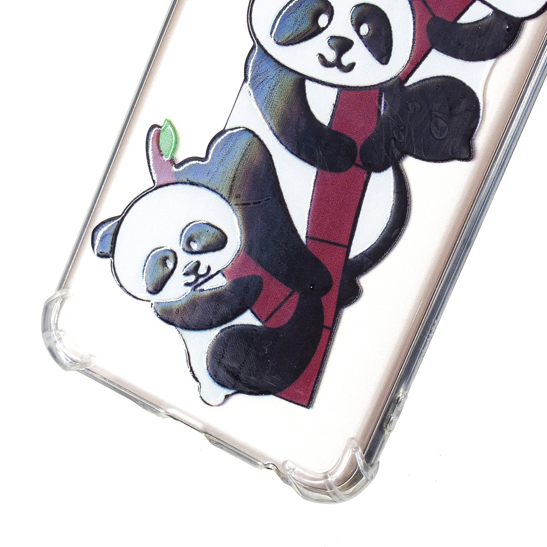 2018 HopMore Funda Huawei Y7 Prime Silicona Transparente Antigolpes Kawaii Gracioso TPU Gel Carcasa Huawei Y7 Prime 2018 Resistente Ultrafina Slim Case Cover Caso Protecci/ón Dos Unicornios