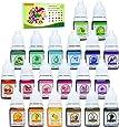 Colorante Jabón 20 Colores - Colorante de Bomba de Baño Líquido para Fabricación de Jabón, Limo - Tinte de Bomba de Baño para Kit de Suministros de Elaboración Jabon DIY, Manualidades - 6ml Cada Uno
