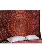 RAJRANG BRINGING RAJASTHAN TO YOU Psychedelic Mandala Tapestry - Hippie Tapiz de Pared Indio Etnico Wall Hanging Colgante