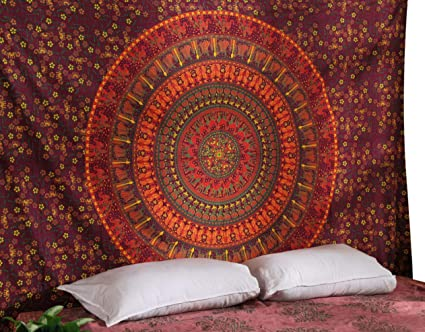 Rajrang Tapiz Pared Tapices Mandala Hippie Colgar En La Pared Boho - Tapices-pared