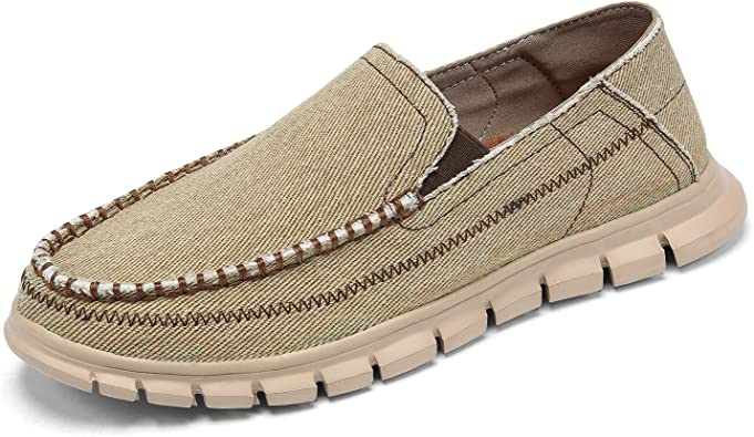 Men/'s Driving Casual Shoes Leather Canvas Comfort Moccasin Slip On Loafers Flats