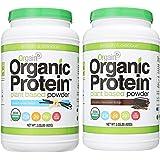 Orgain Organic Plant Based Protein Powder, 3 Flavors, Various Sizes (Vanilla Bean & Chocolate Fudge, 2 X 2.03 Pound)